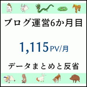 【ブログ運営6か月目】 1,000PV超えました! 感謝!