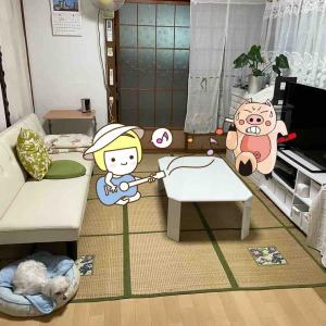 動線を考えた結果、居間はこうなりました。