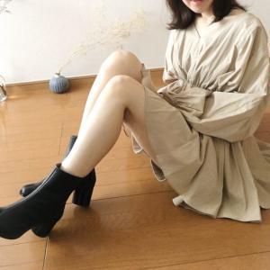 【足袋ブーツ×ショートパンツ】素足を見せた爽やかなコーデ
