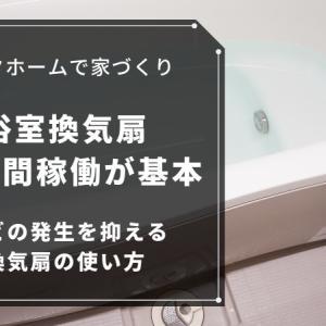 浴室換気扇は24時間つけっぱなしが基本!カビの発生を抑える換気扇の使い方