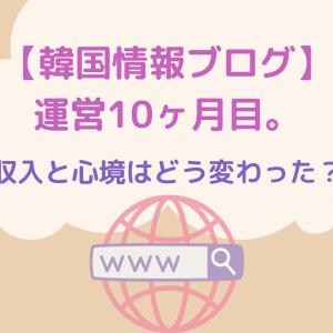 【韓国情報ブログ】運営10ヶ月。収入と心境はどう変わった?