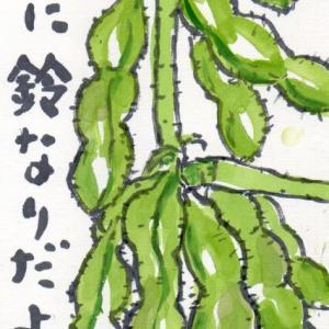 「絵手紙もらいました-枝豆-」について考える