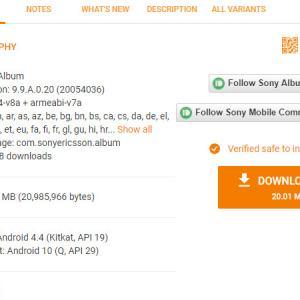 Xperia1 III(17)SONYのアルバムアプリ