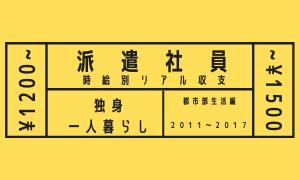 時給別(¥1200~¥1500) 派遣社員のリアル月間収支