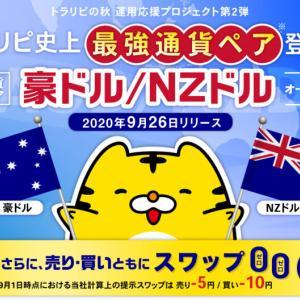 トラリピに豪ドル/NZドルペアが登場!レンジ相場になりやすいのでトラリピに最適です!