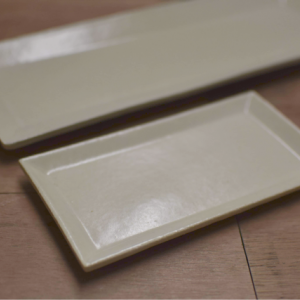 長板皿と半身皿