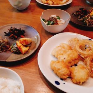 鱧と玉葱の天ぷら
