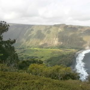 ハワイ島のワイピオ渓谷の写真