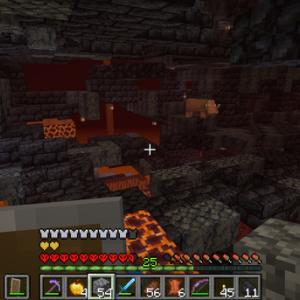 マイクラ ハードコアに生きる 砦の遺跡を探索していくっっ!
