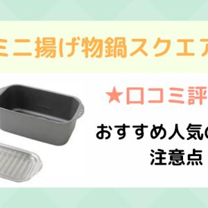 ミニ揚げ物鍋スクエアの口コミ評価!おすすめ人気の特徴と注意点