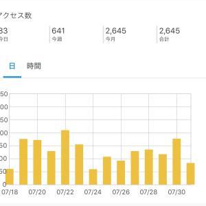 【雑記】7月度PV数&感謝💗
