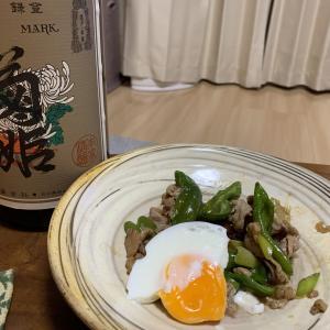 「菊姫 特選純米」×「ししとうと豚肉の甘辛炒め」