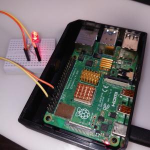 【RaspberryPi-3】入出力ポートを使用してLED点滅【Lチカ】