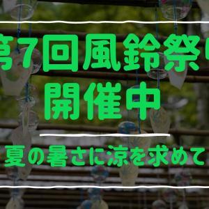 「兵庫県佐用町」夏の暑さに涼を求めて。第7回風鈴祭り開催中!