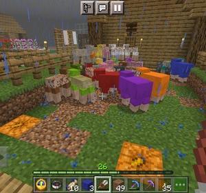 はじまりの町 大きい羊小屋を作る