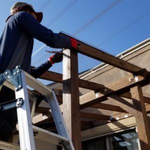 ウッドデッキの屋根をDIY 2 テラス屋根 既製品とどっちが安い? 材料と予算《木材とポリカ屋根編》