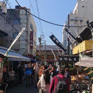 築地食べ歩き & 小田保の牡蠣ミックス定食