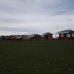 桑科草原でおっさんもキャンプファイヤー