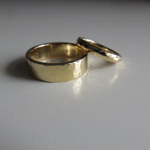 祝70代♪アラセブカップルのペアリングをチェーンからリフォームした話・思い出のジュエリーをリフォーム ハンドメイド作家の幸せ哲学