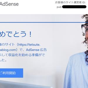 Google AdSenseの審査で一発合格