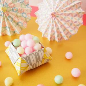 《お菓子とデザイン》【銀座菊廼舎(ぎんざきくのや)】「お江戸の折箱(夏)青」のパッケージ♬