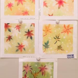 10月JEUGIAカルチャーさん「癒しのパステルアート」教室