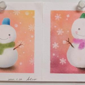 プライベートレッスン:名画みたいな色使い「雪だるま」