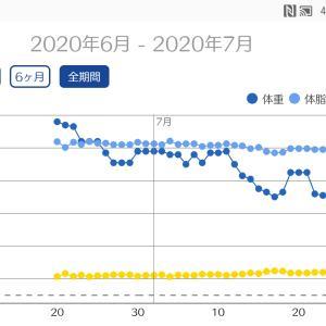今月の体重グラフ