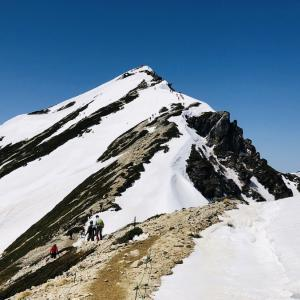 #044 (2019年の登山記)GWに登る残雪期の唐松岳
