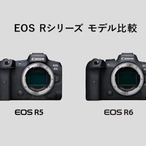 Canon EOS R5とR6を他のカメラと比較してみた。