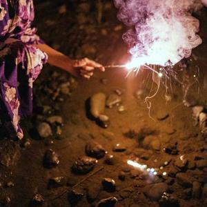 手持ち花火を楽しんできました。