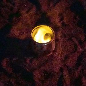 手持ち花火に使用する火種は固形燃料が最適。
