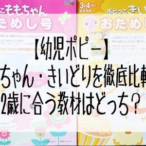 【幼児ポピー】ももちゃん・きいどりを比較!2歳に合う教材はどっち?
