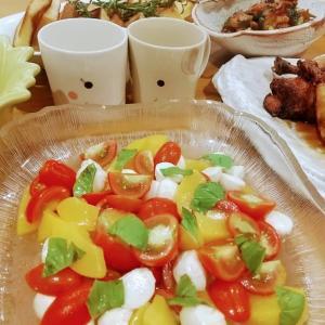 🐭黄桃とプチトマトのコラボカプレーゼの簡単作り方・レシピ🐭