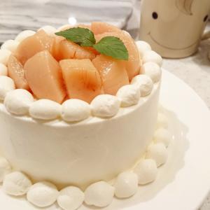 みんな大好き♡桃のショートケーキの作り方🐰