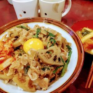 🐭ニラとレンコンたっぷり豚丼簡単作り方・レシピ