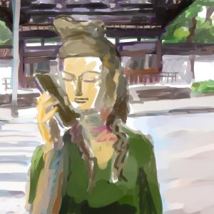 電話をかける 弥勒菩薩