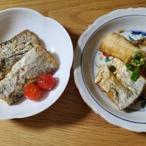 今日はタチウオのから揚げを食べました