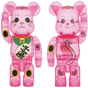 【8/29発売】BE@RBRICK ベアブリック 招き猫 桃色透明 400%