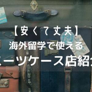 【安くて丈夫!】海外留学で使えるスーツケース店紹介