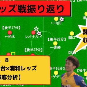 【ベガルタ仙台】浦和レッズ戦徹底分析【試合後レビュー】