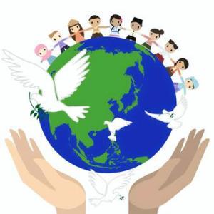 原爆投下された世界平和を願う日なのに
