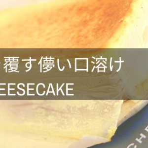 【常識を覆す儚い口溶け】ミスターチーズケーキ実食!口コミ・評判レビュー
