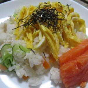 寂しい夏休み・お盆休みになりました  ☆ちらし寿司☆
