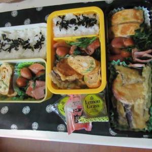 今日は、ビルトインコンロの取り替え工事 ☆天ぷら弁当☆
