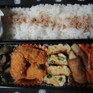 変わらない秋の風景「赤トンボよ♪」  ☆白身魚フライ弁当☆☆