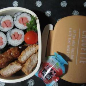 お野菜いただいた「ありがとう」 ☆ソーセージ海苔巻き弁当☆
