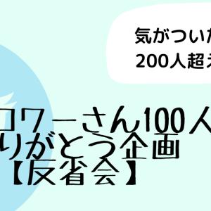 【Twitter】フォロワーさん100人感謝企画【反省会】