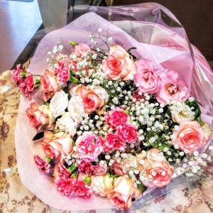 ♪まったりとした優雅な花束♪