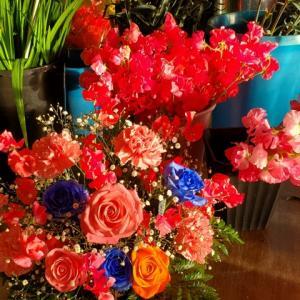 今日も ラッキーな素敵な一日になりますように!お花が朝日をあびて!